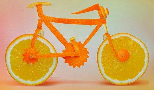 Апельсиновый велосипед